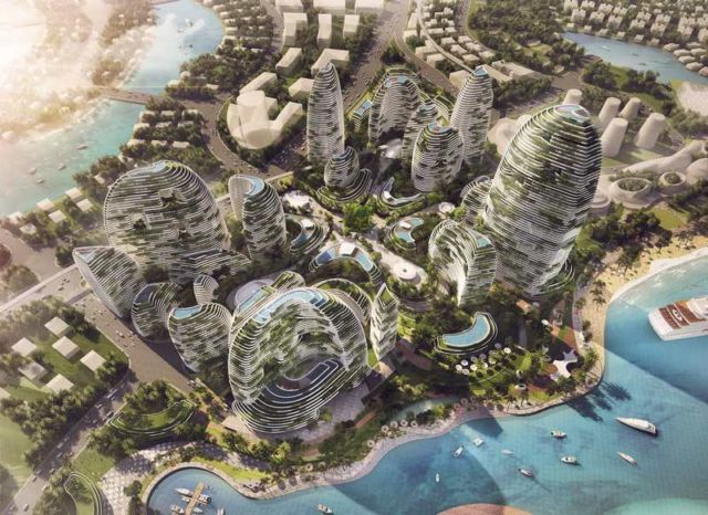 Forest City - futuristic new city in Malaysia