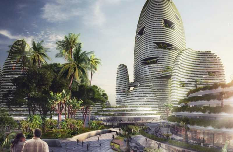 Forest city futuristic new city in malaysia wordlesstech for Architecture design company in malaysia