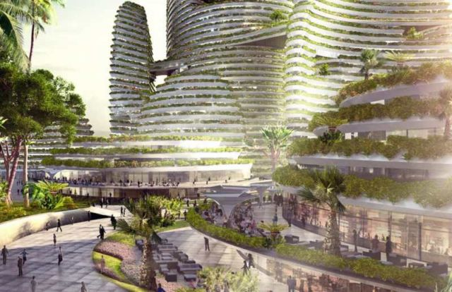 Forest City - futuristic new city in Malaysia (3)