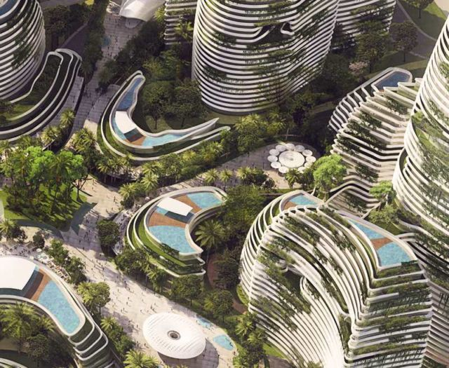 Forest City - futuristic new city in Malaysia (2)