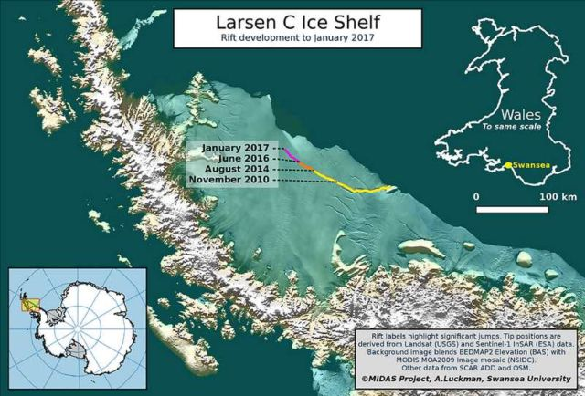 Larsen C Ice shelf in Antarctica