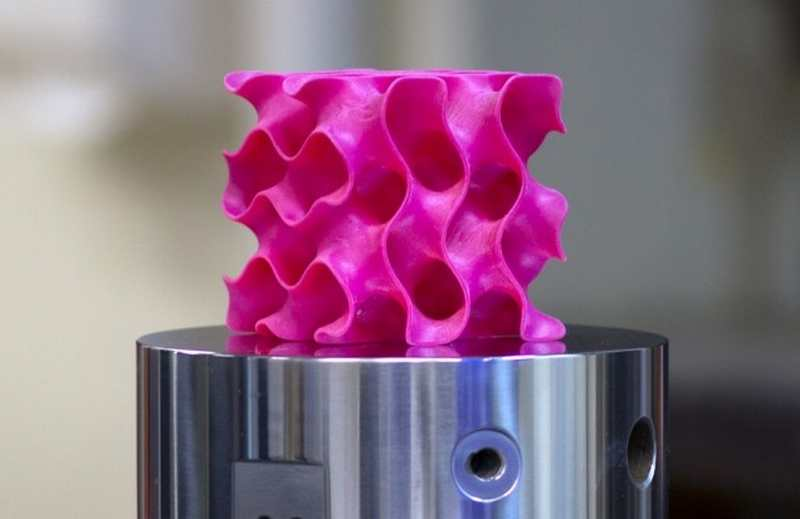 3-D-printed gyroid model