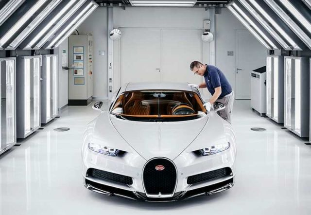 Bugatti Chiron at Molsheim production facility