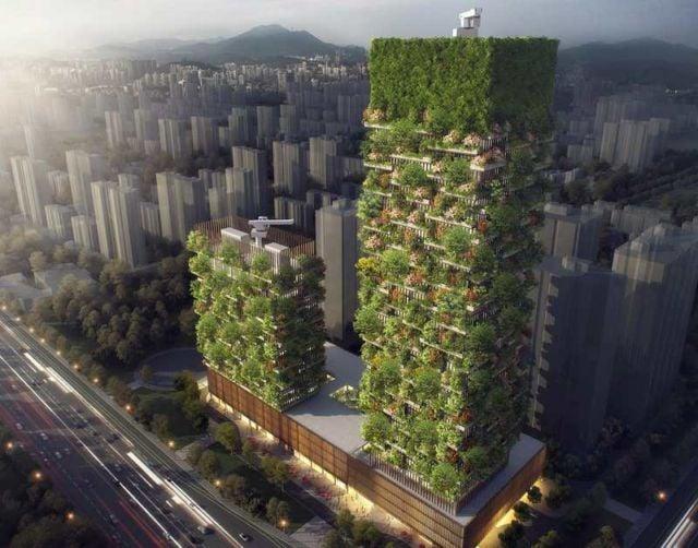 Nanjing Green Towers by Stefano Boeri Architetti