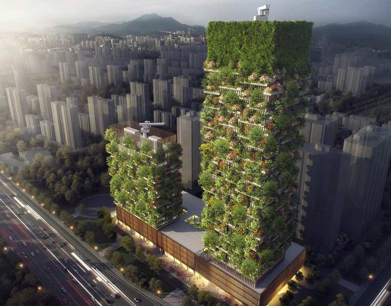 Nanjing Green Towers by Stefano Boeri Architetti