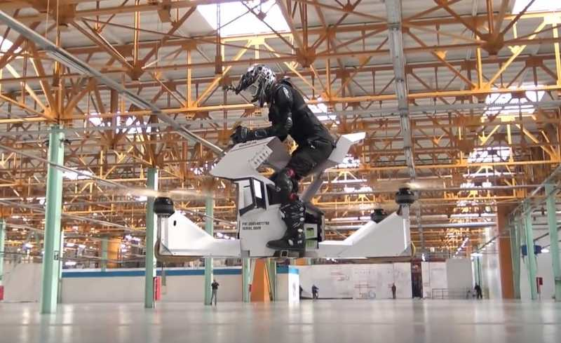 Hoverbike Scorpion-3 first Flight