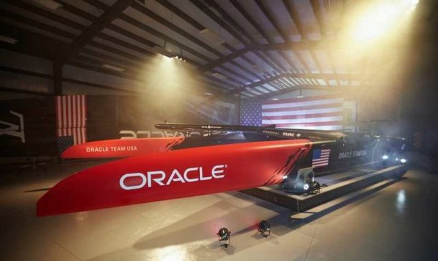 Oracle Team's new America's Cup Class boat