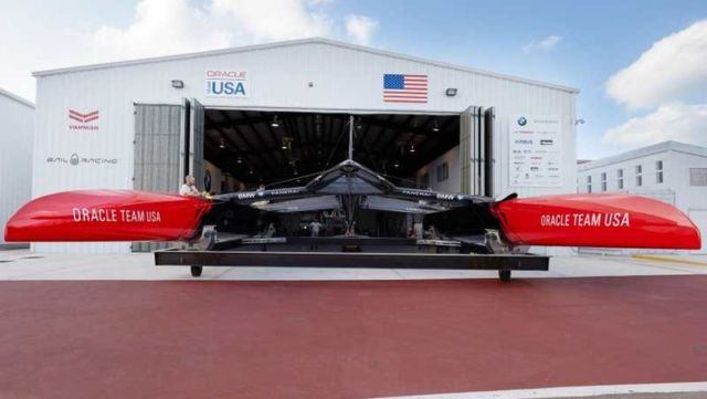 Oracle Team's new America's Cup Class boat (2)
