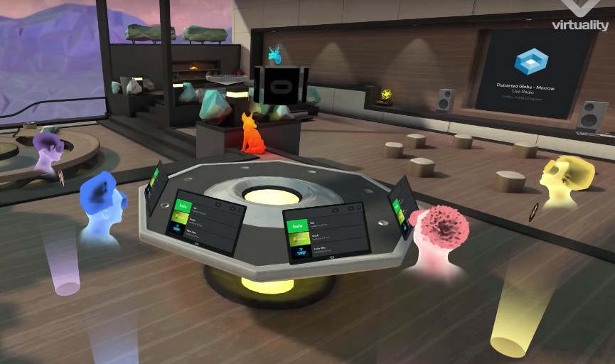 Party with Friends through Virtual Reality
