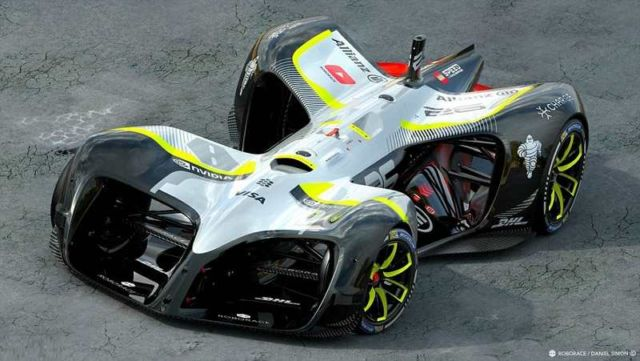 Robocar driverless electric race vehicle