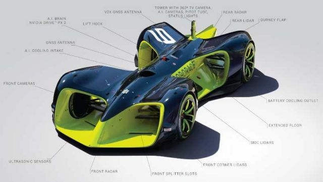 Robocar driverless electric race vehicle (2)