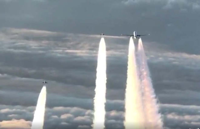 Typhoons Intercept a Boeing 777 that lost contact