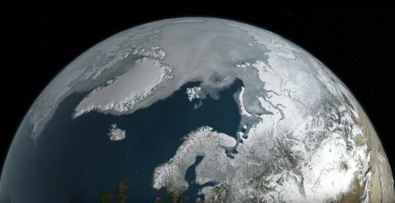 View of Summer Arctic Sea Ice
