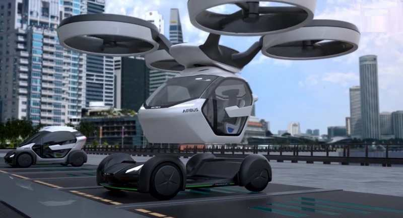 airbus pop up modular flying car concept wordlesstech. Black Bedroom Furniture Sets. Home Design Ideas