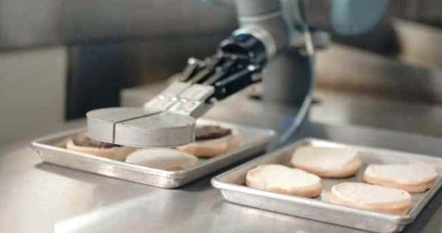 Burger-flipping robot