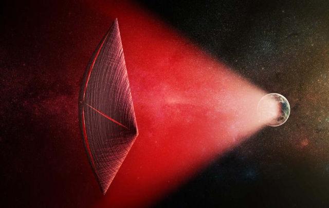 Could Radio Bursts be Powering Alien Spaceships