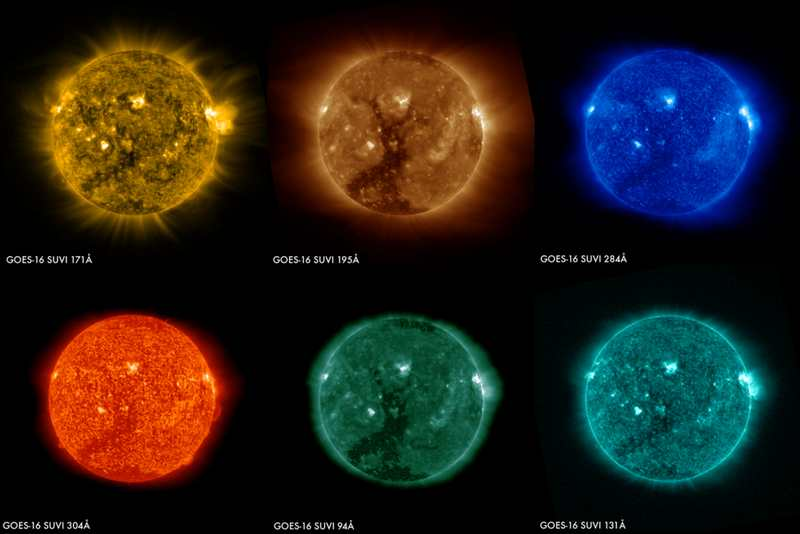 First Solar Images from NOAA's GOES-16 Satellite