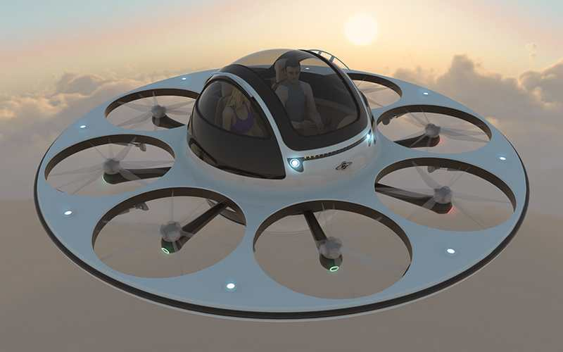 Jet capsule IFO two-seater drone (9)