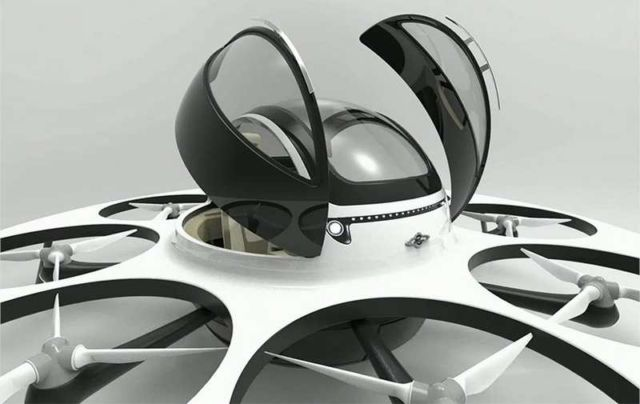 Jet capsule IFO two-seater drone (6)
