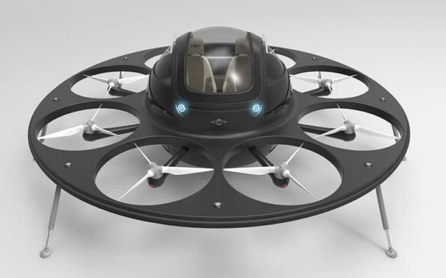 Jet capsule IFO two-seater drone (5)