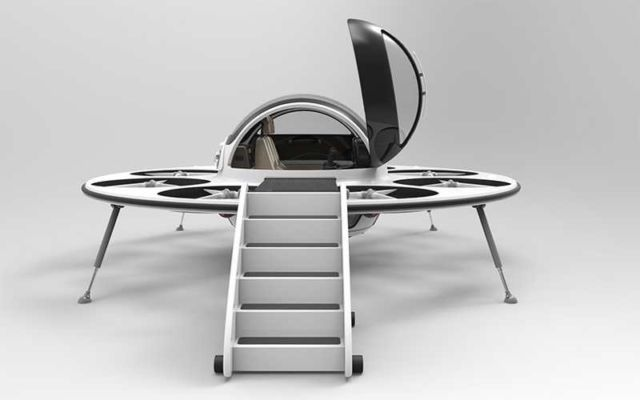 Jet capsule IFO two-seater drone (4)