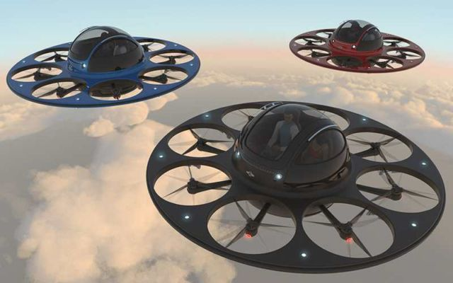 Jet capsule IFO two-seater drone (3)