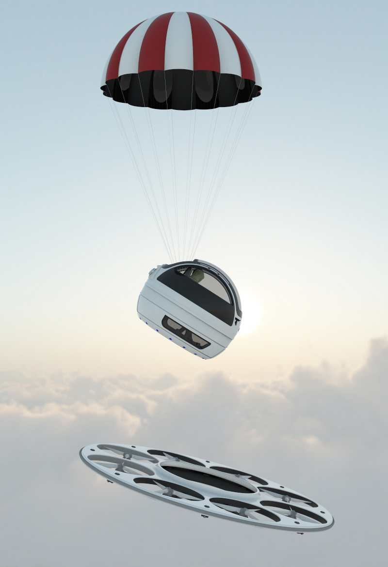 Jet Capsule IFO Two-seater Drone