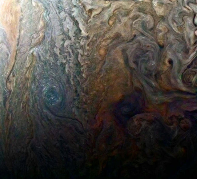 Jovian 'galaxy' of swirling storms
