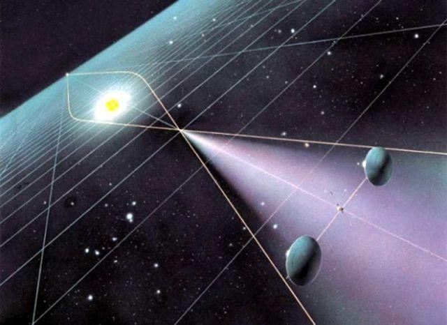 The gravitational lens telescope