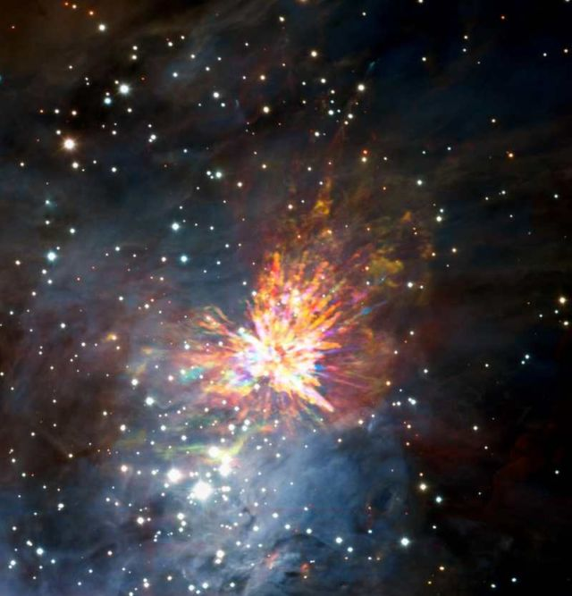 A magnificent Stellar explosion in Orion