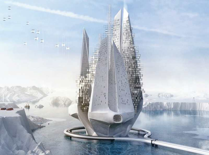 Wordlesstech futuristic floating skyscraper to reverse climate change - The greenhouse residence in rotterdam ...