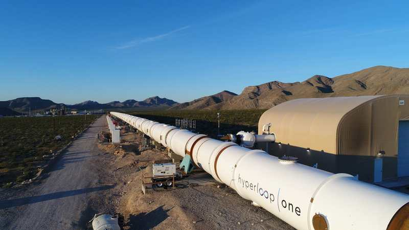 Hyperloop One completes Tube Installation at Las Vegas