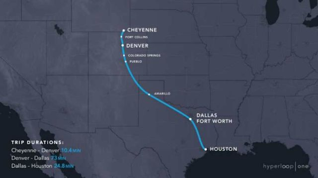 Hyperloop One released 11 Routes in the US