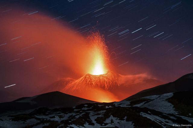 Mt. Etna Lava Plume