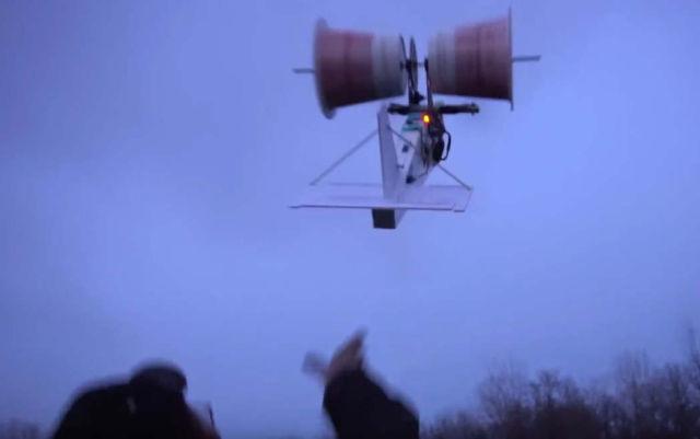 RC KFC bucket Magnus Effect aeroplane