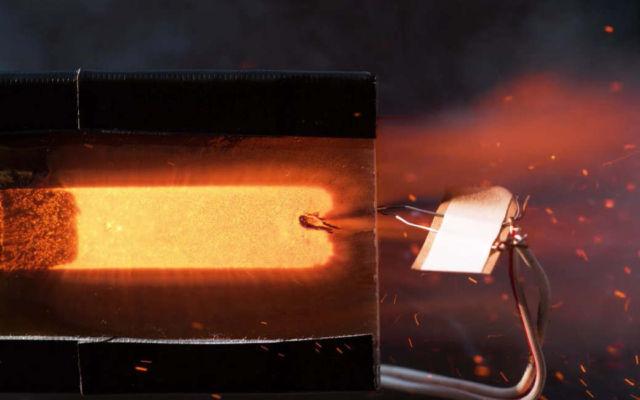 See Through a Rocket Engine Burning