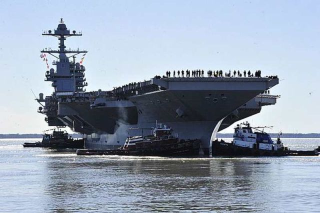 PCU Gerald R. Ford (CVN 78) Begins Builder's Sea Trials