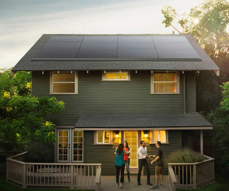 Tesla sleek Solar Panels
