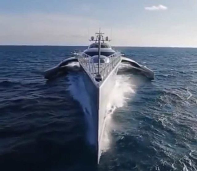 An amazing Trimaran