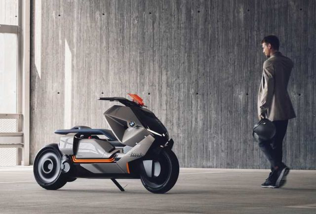 Electric Scooter With Seat >> BMW Motorrad Concept Link zero-emissions bike | wordlessTech