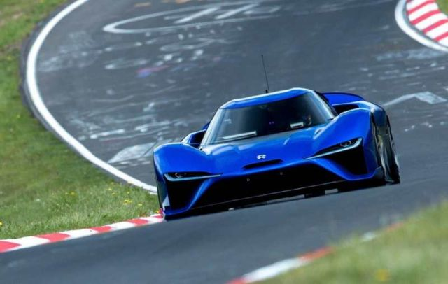 NIO EP9 electric supercar in Nurburgring
