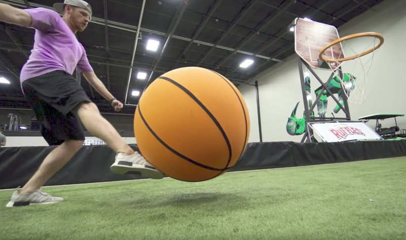 Giant Basketball Trick Shots