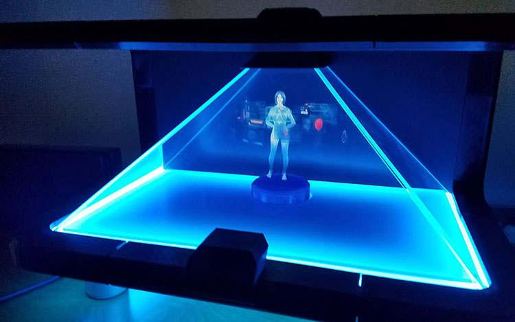 Holographic Cortana Appliance - video