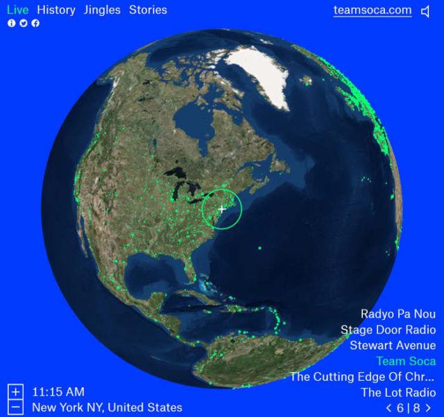 Radio Garden global interactive map