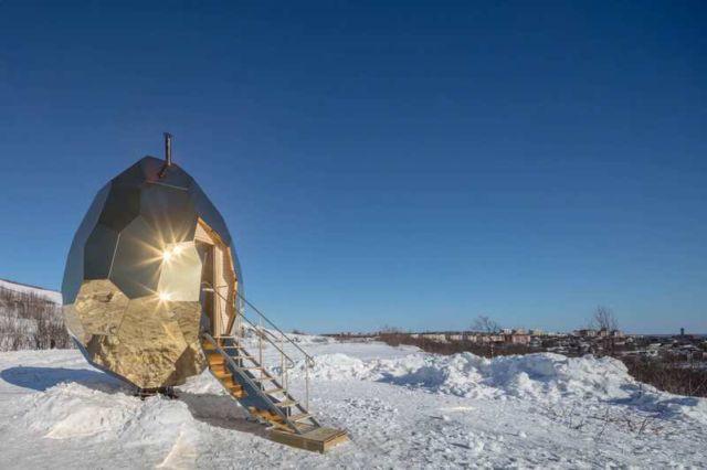 Solar Egg wood-burning Sauna