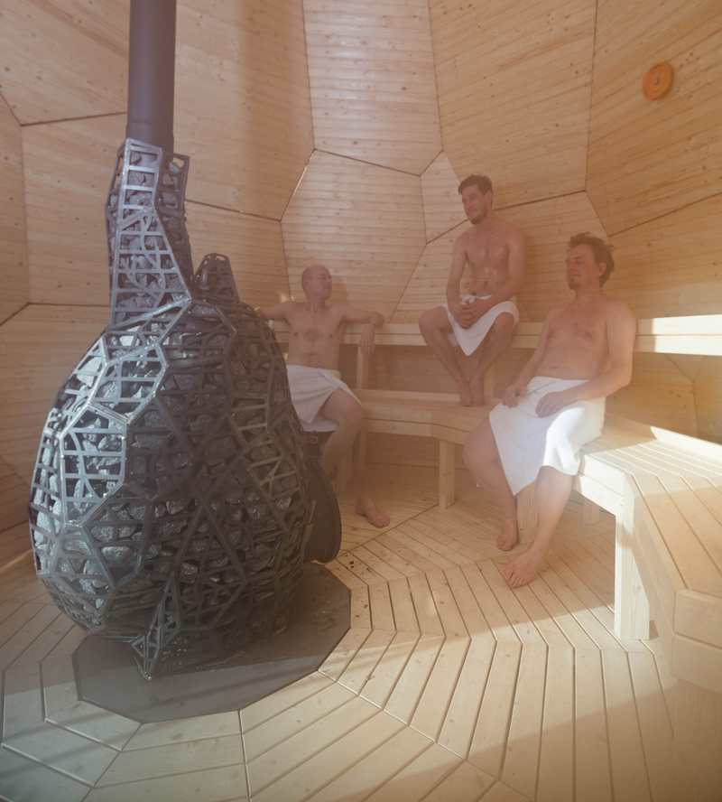 Wordlesstech Solar Egg Wood Burning Sauna