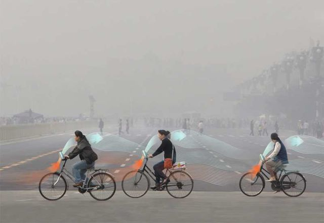 The Smog free bicycles Purify Pollution