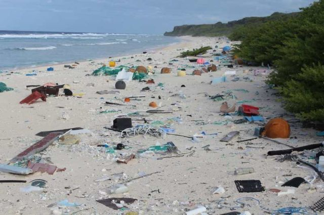 The World's Trashiest Beach is on the Remotest Island