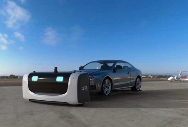 The first Outdoor Valet Parking robot