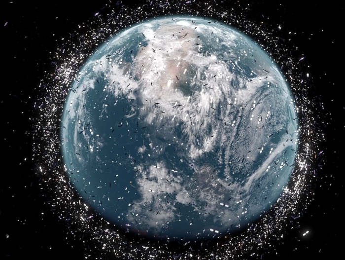 The volume of Space Junk around Earth has hit a critical point